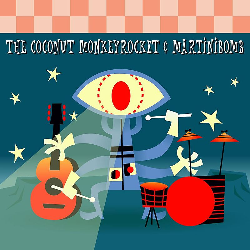 Coconut Monkeyrocket & Martinibomb - Split cover
