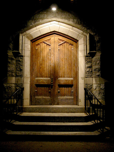 Behold the door of clunking symbolism
